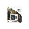 Kingston Memóriakártya, microSDXC, 128GB, C10/UHS-I/U3/V30/A2, adatper, KINGSTON  Canvas Go! Plus
