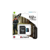 Kingston Memóriakártya, microSDXC, 512GB, C10/UHS-I/U3/V30/A2, adatper, KINGSTON  Canvas Go! Plus