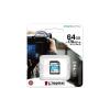 Kingston Memóriakártya, SDXC, 64GB, C10/UHS-I/U3/V30/A2, KINGSTON  Canvas Go! Plus