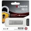 """Kingston Pendrive, 16GB, USB 3.0, jelszavas védelemmel, KINGSTON """"DTLPG3"""", ezüst"""