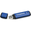 "Kingston Pendrive, 4GB, USB 3.0, 80/12MB/s, titkosítással,  ""DTVP 3.0 Management Ready"", kék"
