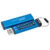 "Kingston Pendrive, 64GB, USB 3.0, Keypad, KINGSTON ""DT2000"", kék"