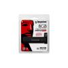 """Kingston Pendrive, 8GB, USB 3.0, víz- és ütésálló, adatvédelem, E """"DT4000G2DM"""", fekete"""