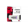 "Kingston Pendrive, 8GB, USB 3.1,  ""DT50"", ezüst-lila"