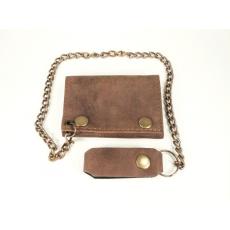 Kis méretű bőr pénztárca, barna