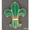 Kitűző - Cserkész liliom magyar zászlóval