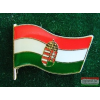 Kitűző - Magyar címeres zászló 17 mm