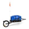 """KLARFIT Follower, kerékpár utánfutó készlet, 16 """"kerék, teherbírás 35 kg, 120 l szállítózsák"""