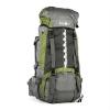KLARFIT Heyerdahl-2014, turista hátizsák 85+10 l, felül nyitható, zöld