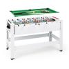 KLARFIT Spin 2 az 1-ben, játékasztal, biliárd, csocsó, 180°-ban elfordítható, játéktartozékok, fehér