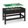 KLARFIT Spin 2 az 1-ben, játékasztal, biliárd, csocsó, 180°-ban elfordítható, játéktartozékok, fekete