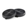 Klarstein aktív szén szűrő páraelszívóba, 2 db pótfilter, levegő körforgás, Ø206 mm