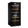 Klarstein Barossa 102D, borhűtő, 2 zóna, 102 üveg, érintős LED kijelző, fekete