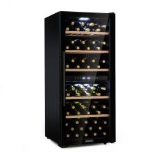 Klarstein Barossa 102D, borhűtő, 2 zóna, 102 üveg, érintős LED kijelző, fekete borhűtőgép