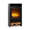 Klarstein Bergamo, elektromos kandalló, 900/1800 W, termosztát, fa kialakítás, fekete
