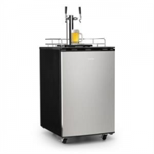 Klarstein Big Spender Double söröshordó hűtő, komplett készlet, CO2, hordók 50 l-ig sörös pohár