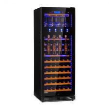 Klarstein First Class 84, borhűtő, 4 adagoló, 84 palack,  5 - 22°C, fekete borhűtőgép