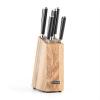 Klarstein Klarstein Katana 6, kés készlet, 6 darabos, masszív fa – kés blokk, 3CR13 nemesacél