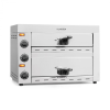 Klarstein Pro Vesuvio II, pizzasütő kemence, Gastro, 2 kamra, 2260 W, 300 °C, nemesacél, ezüstszínű