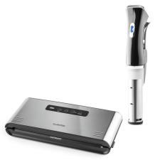 Klarstein Quickstick Sous Vide + Foodlocker Pro, készlet vákuumos főzéshez, sous-vide merülő forraló | vákuumozó gép elektromos főzőedény