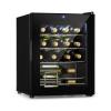 Klarstein Shiraz, borhűtő, 42 l, érintős vezérlőpanel, panel, 131 W, 5 - 18 °C, fekete