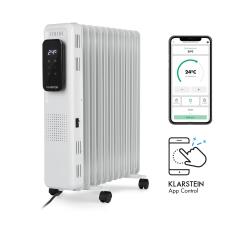 Klarstein Thermaxx Elevate Smart, olajradiátor, 2720 W, 7 – 35 °C, 24 órás időzítő, fehér fűtőtest, radiátor