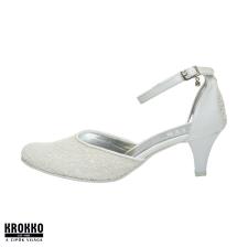 KLEER Kamilla fehér kaviár pántos alkalmi menyasszonyi körömcipő női cipő