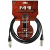 Klotz mikrofonkábel 7,5 m Klotz XLR3M-XLR3F csatlakozók+MY206 fekete kábel