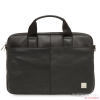 Knomo STANFORD Full Leather Slim Laptop Carrier 13inch - Black