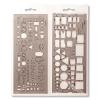 KOH-I-NOOR Elektronikai sablon, műanyag, KOH-I-NOOR 703071