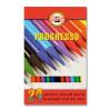 """KOH-I-NOOR Színes ceruza készlet, famentes, KOH-I-NOOR """"Progresso 8758/24"""", 24 különböző szín (TKOH8758)"""