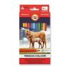 """KOH-I-NOOR Színes ceruza készlet, háromszögletű, vastag,  """"Triocolor Lovas 3144/24"""", 24 különböző szín"""
