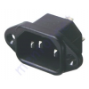 Kőnig-HQ 220V-os hálózati dugó, beépíthető AC 2D