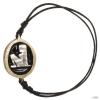 Konplott karkötő Knoten Zodiac Virgo/Jungfrau fekete antique melltartós