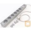 Kontaset DI-STRIP Safety Basic hálózati elosztó 6db aljzattal, túlfeszültség védelemmel