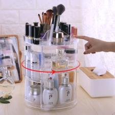 Kör alakú, forgatható sminkkészlet- és kozmetikai tároló smink kiegészítő