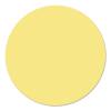 Kör moderációs kártya, 19 cm, sárga