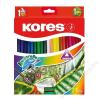 KORES Akvarell ceruza készlet, hegyezővel, ecsettel, KORES, 24 különböző szín (IK93824)