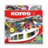 """KORES Színes ceruza készlet, háromszögletű, KORES \""""Triangular\"""", 50 különböző szín [50 db]"""