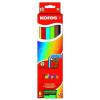 """KORES Színes ceruza készlet, háromszögletű, vastag, KORES """"Jumbo"""", 6 különböző szín"""