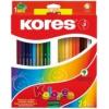 """KORES Színes ceruza készlet, hatszögletű, KORES \""""Hexagonal\"""", 24 különböző szín [24 db]"""