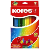 """KORES Színes ceruza készlet, hatszögletű, KORES """"Hexagonal"""", 36 különböző szín (IK100136)"""