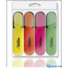 KORES Szövegkiemelő 4 db/csomag (sárga narancs pink zöld)