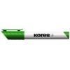 """KORES Tábla- és flipchart marker, 1-3 mm, kúpos, KORES \""""Marka\"""", zöld"""