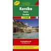 Korzika Top 10 tipp autótérkép - f&b AK 0407