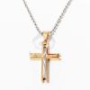 Köves kereszt nyaklánccal - arany bevonatos jwr-1029