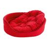 Krakvet /ZooFast fekhely párnával piros 100x78x22cm