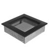 Kratki Fekete Szellőzőrács Standard 17x17