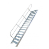 KRAUSE - Ipari lépcső 800mm 60° bordázott alu fokkal 16 fokos