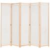Krémszínű 5-paneles szövetparaván 200 x 170 x 4 cm